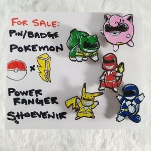 Other - Power Ranger × Pokemon Mashup | Pin / Badge